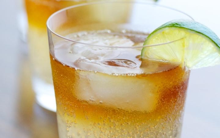 Dark and Stormy Caribbean Rum Cocktail